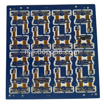 Blue Solder Mask 4layers Board Ligid Flex Litar